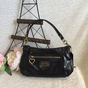 Coach 'Poppy' Black Shoulder Bag